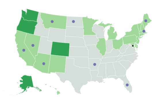 Where Is Marijuana Legalized Map Of US Marijuana Laws By State - Us cannabis map