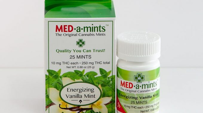 250mg Energizing Vanilla Medamints Cannabis Infused Mints Marijuana Edibles