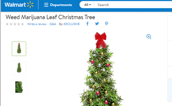Mainstream Alert: You Can Buy A Weed-leaf Christmas Tree From Walmart